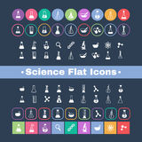 Flat icon science Stock Photo