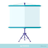 Flat icon screen on tripod object Stock Photos