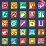 Flat Icon Set Stock Photo