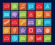 Flat icon set Stock Images
