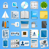 Flat icon set business. Vector Stock Photography