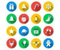 Flat icon set of Christmas Royalty Free Stock Photo