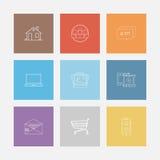 Flat icon set Stock Image