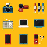 Flat icon set. Device Royalty Free Stock Photography