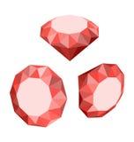 Flat Icon of Set Diamond, Three-dimensional Design Royalty Free Stock Photos