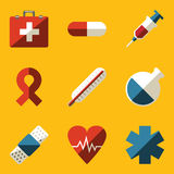 Flat icon set. Medical. Vector illustration in eps10 Royalty Free Stock Photo