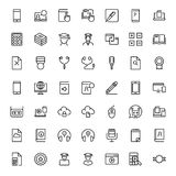 Flat icon set Royalty Free Stock Photos