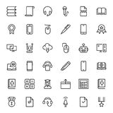 Flat icon set Royalty Free Stock Photography