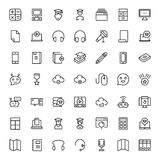 Flat icon set Stock Photos