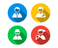 Flat icon set of of people Royalty Free Stock Photos