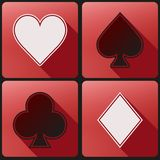 Flat icon set playing cards suit Stock Photos