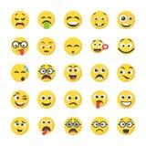 Smiley Flat Icons Set royalty free illustration