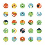 Flat Icon Set of Sports Icon. This flat icon consists of different sport`s icons including outdoor sports, indoor sports and extreme sports. If you have a sport` Royalty Free Stock Photo