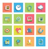 Flat icon set : universal icons Royalty Free Stock Photography
