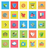 Flat icon set : universal icons Stock Photo