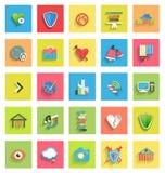 Flat icon set : universal icons stock illustration