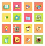 Flat icon set : universal icons Stock Photography