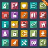 Flat icon set stock illustration