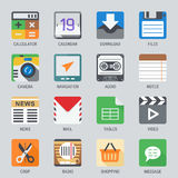 Flat icon set for Web and Mobile Application. Audio,Video,Photo and more Royalty Free Stock Photography