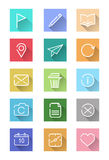 Flat icon set for website and smart device. Royalty Free Stock Photography