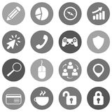 Flat icon set for websites and mobiles. Vector Royalty Free Stock Photo