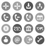 Flat icon set for websites and mobiles. Vector Stock Image