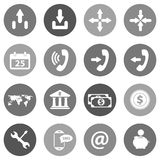 Flat icon set for websites and mobiles. Vector Stock Photo