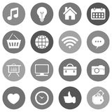 Flat icon set for websites and mobiles. Vector Royalty Free Stock Photos