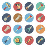 Flat icon set of work tools Royalty Free Stock Image