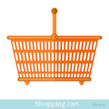 Flat icon shopping basket Stock Photo