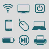 Flat icon for technology tool Royalty Free Stock Photography