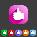 Flat icon thumbs up Royalty Free Stock Photos