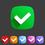 Flat icon tick Royalty Free Stock Photo