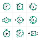 Flat icon Time Clock Icons Set, Vector Design Royalty Free Stock Images