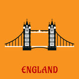 Flat icon of Tower Bridge in London Royalty Free Stock Image