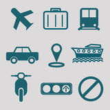 Flat icon for transportation Stock Images