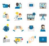 Flat Icon Video Blog Stock Photos