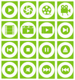 Flat Icon Video. Icon flat video for use in mobile or website design and others royalty free illustration