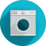 Flat icon for washing machine Stock Photography