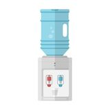 Flat icon for water cooler Stock Photos