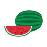 Flat icon watermelon. Royalty Free Stock Image