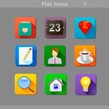 Flat-Icons-6 Illustration Libre de Droits