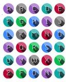Flat icons alphabet Stock Image