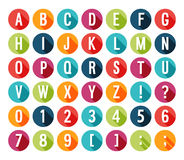 Flat icons alphabet. Royalty Free Stock Photo