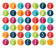 Flat icons alphabet. Stock Photography