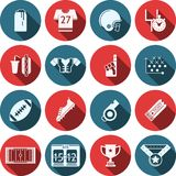 Flat icons for American football Royalty Free Stock Photo