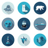 Flat icons Arctic Royalty Free Stock Images
