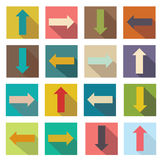 Flat icons of arrows. Vector illustration Royalty Free Stock Photography
