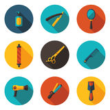 Flat icons beauty salon Royalty Free Stock Images