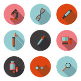Flat icons biology Stock Photography
